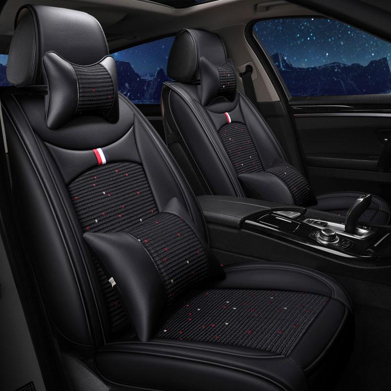 (Delantera) de cuero alfombrilla protectora para asiento de coche automóvil cojín para peugeot 106, 2008, 205, 206, 207, 208, 3008, 301, 306, 307 Uds 308, 4007