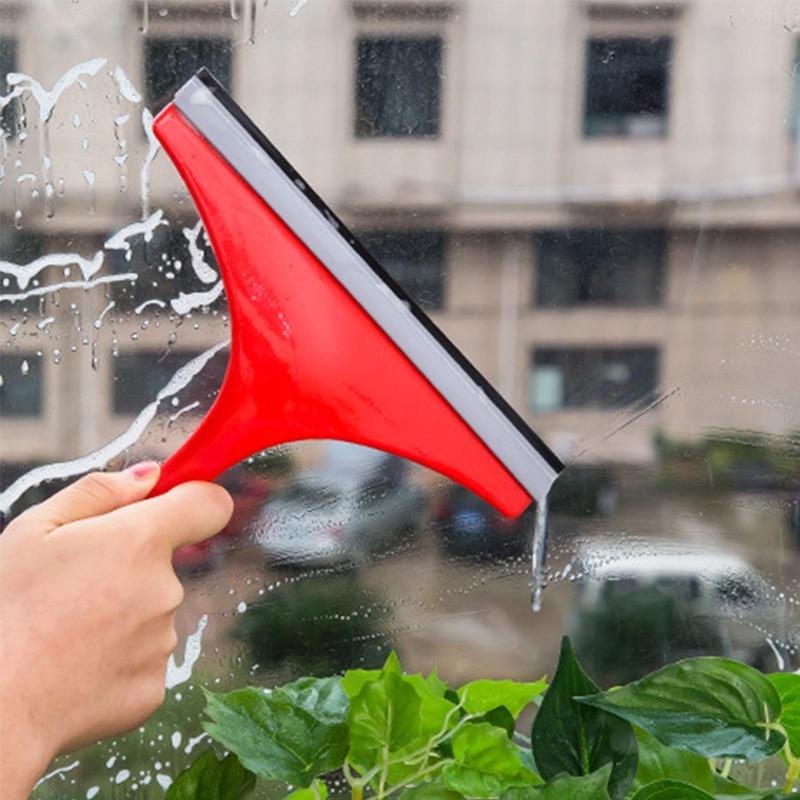 Venta 1pc color plástico aleatorio ventana raspador limpiador Bar limpiando estancada Carro de agua de vidrio de ventana cepillo de limpieza