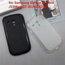 Coque souple silicone téléphone Para pour Samsung Galaxy S3 Mini/S3Mini GT-i8190 i8200 Fundas Coque de protection noir coques Coque dorigine