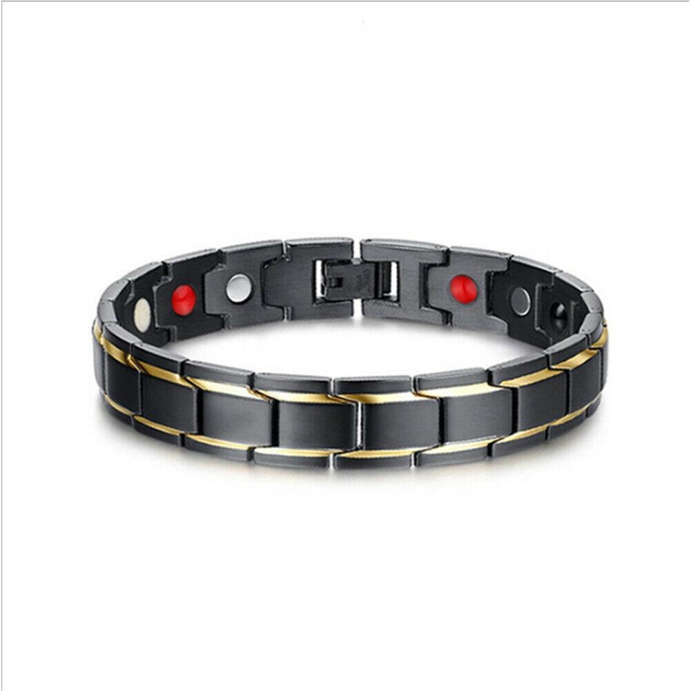 2019 neue ankunft solide Therapeutische Energie Heilung Armband Edelstahl Magnetische Therapie Armband