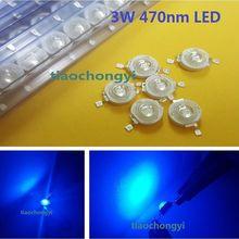 100 pièces 3W bleu haute puissance LED émetteur 470nm 700mA 3.6V lumière LED émettant diod