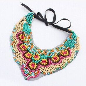 Collares largos/rainbow beads rosary/mala slipknot ethnic necklace ladies collar/max false colar collier femme/bisuteria/joyeria