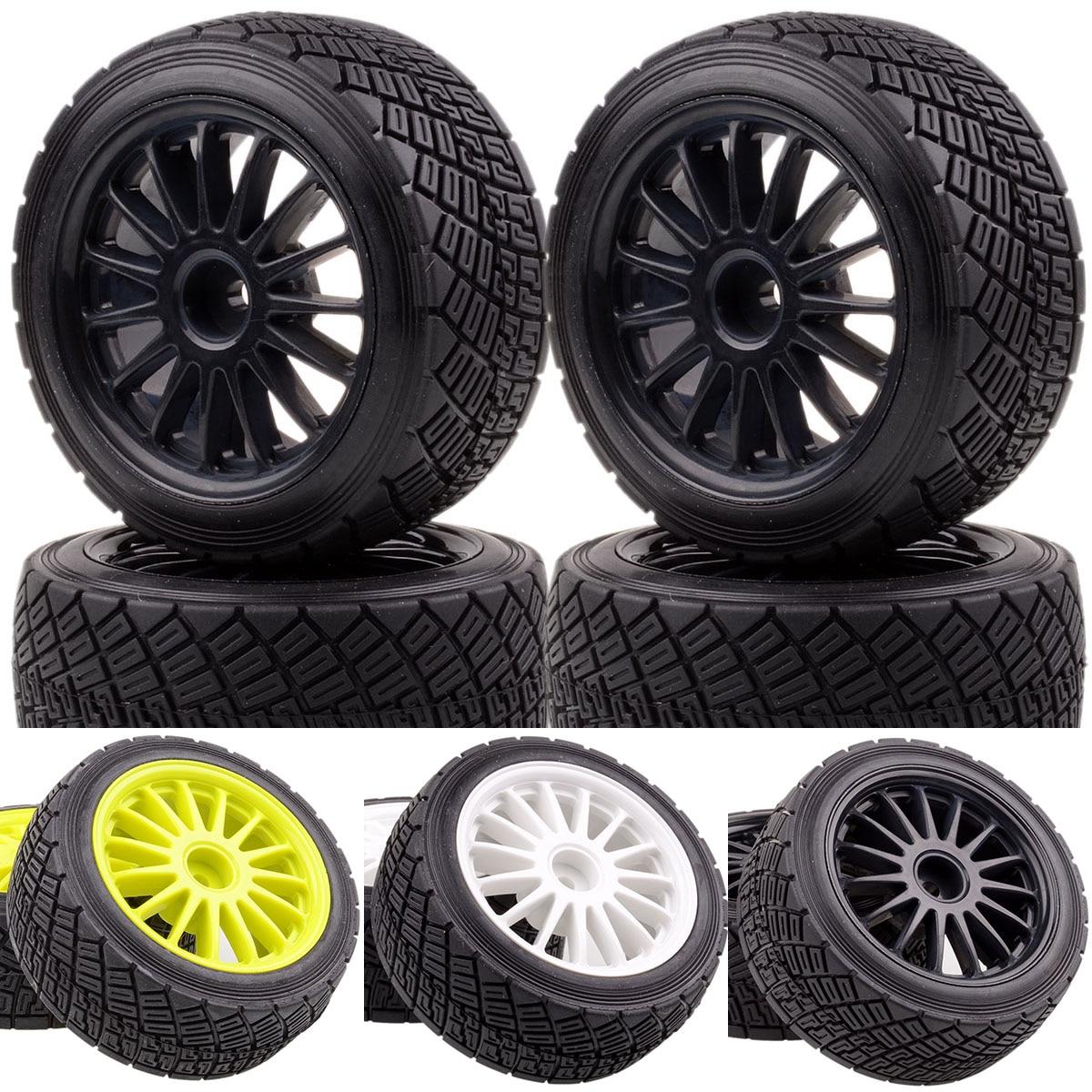 """Neumáticos para RC 4 Uds 2,2 """"de llanta de rueda y neumáticos neumático para 1/10 modelo de RC HPI WR8 flujo 3,0 Rally 110697, 94177"""