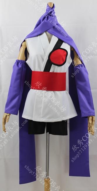 2016 Gintama plata alma Sarutobi Ayame kimono traje cosplay
