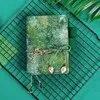 Green forest series – carnet de notes Retro délicat original Agenda de voyage Agenda fournitures de papeterie Bujo A6