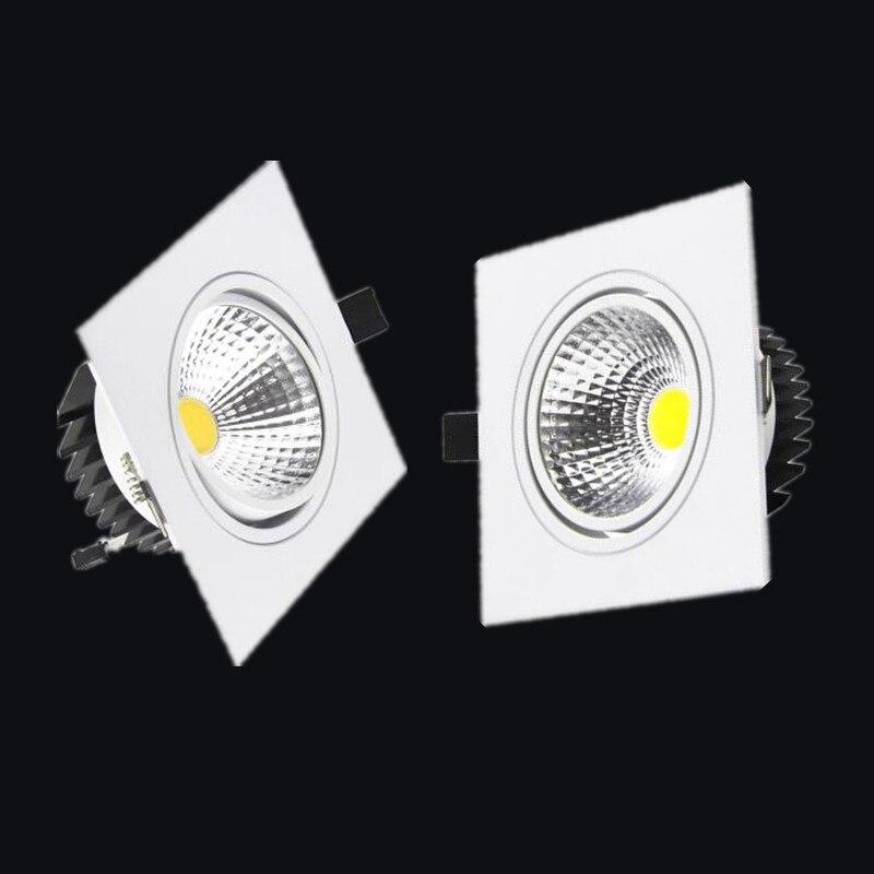 Envío gratis 1 piezas LED COB Downlight regulable ac110-240V 7W 9W 12W Led empotrable lámpara de techo de la luz del punto bombillas de iluminación interior