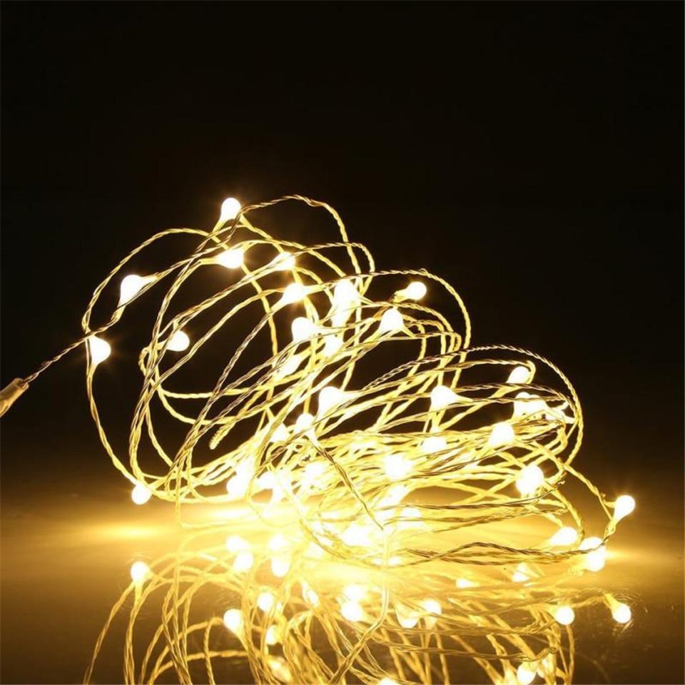 Batterie fée lumières usb led guirlande lumineuse extérieure guirlande lumineuse led guirlande lumineuse fée lumières pour guirlande décoration