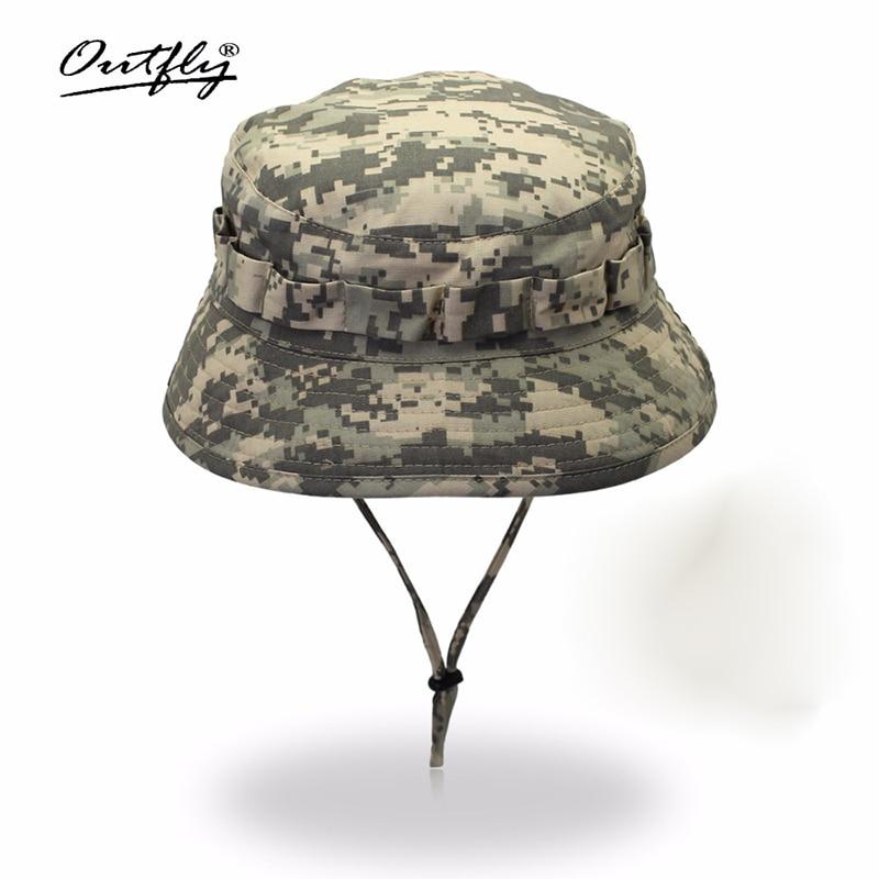 Цифровая камуфляжная шляпа Outfly, армейская шляпа для кемпинга на открытом воздухе, Мужская короткая шляпа bri, оптовая продажа, Солнцезащитная бионическая шляпа для джунглей, Панама