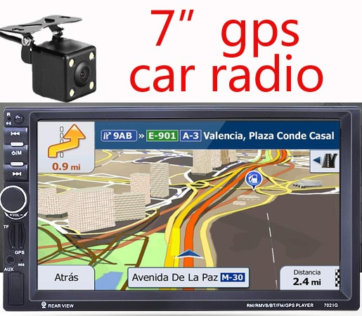 Nueva navegación HD GPS para coche de 7 pulgadas 800MHZ FM/DDR3 mapas de Europa para Rusia/Bielorrusia/Kazajstán Europa/ee.uu. + Canadá camión