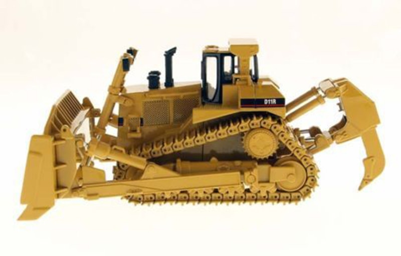 1:50 Scale Crawler Bulldozer Model Diecast Simulation of Engineering Vehicle Kids Toys 25cm Diecast Truck DM Collection Gift kid model toys 1 50 scale engineering vehicle truck car model 140m3 motor grader high line series 85544 diecast model toys
