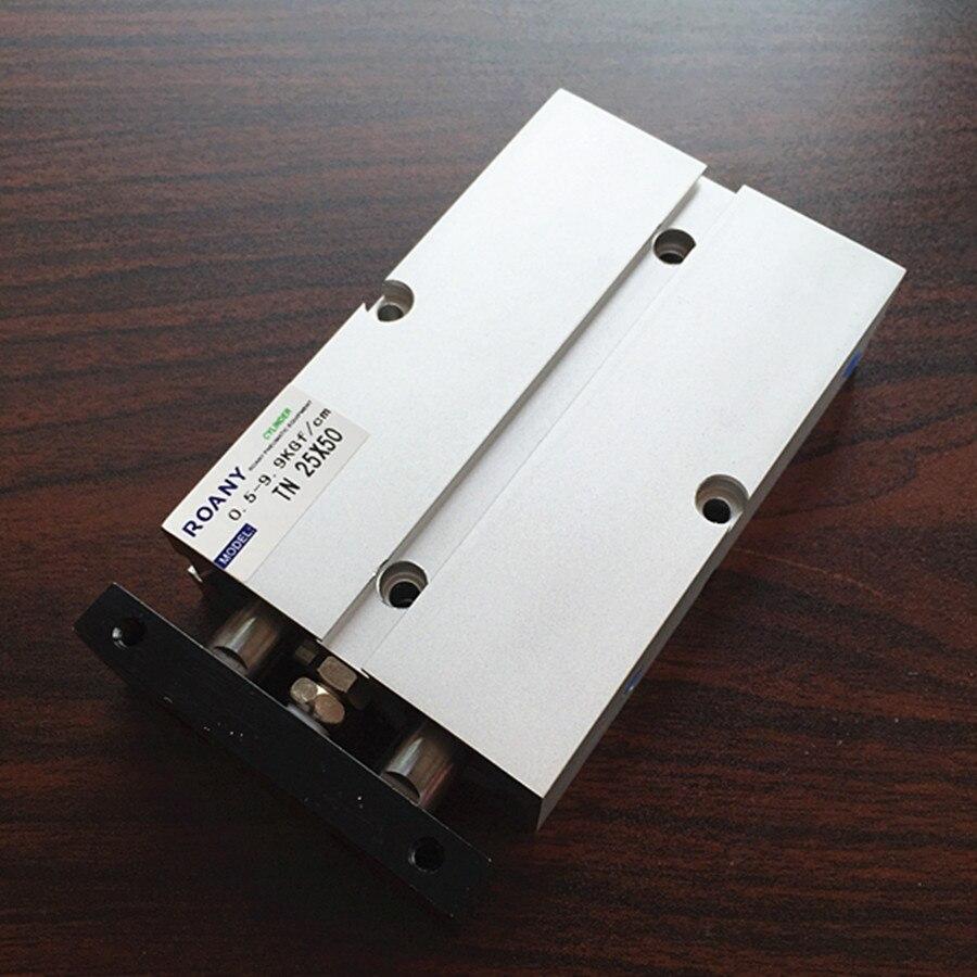 Cilindro de aire neumático de doble acción de aleación de aluminio TN25 * 50 envío gratis