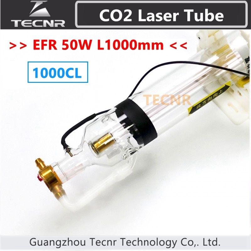 EFR 1000CL 50 w Dia.50mm para CO2 CO2 vidro tubo do laser 1000mm máquina de gravação a laser