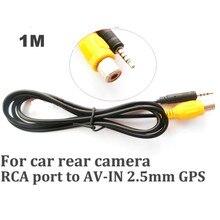 Aide au stationnement de voiture RCA à 2.5mm   port jack pour la vue arrière, marche arrière, véhicule de marche arrière, entrée de caméra de voiture 2 pièces/lot