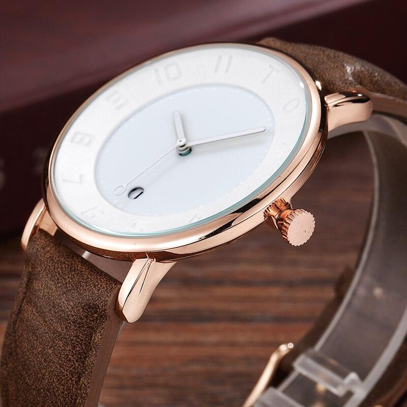 Креативные винтажные мужские часы белое кольцо дизайн большой циферблат