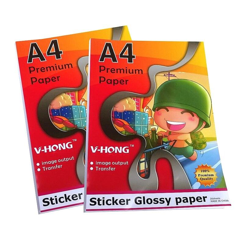 Papel adhesivo brillante autoadhesivo para impresión de etiquetas de título de tamaño A4