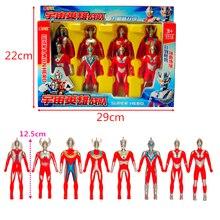 12 Pcs/Set Super Hero Ultraman Doll Set Model Action Figure Collector's Edition Children Toys