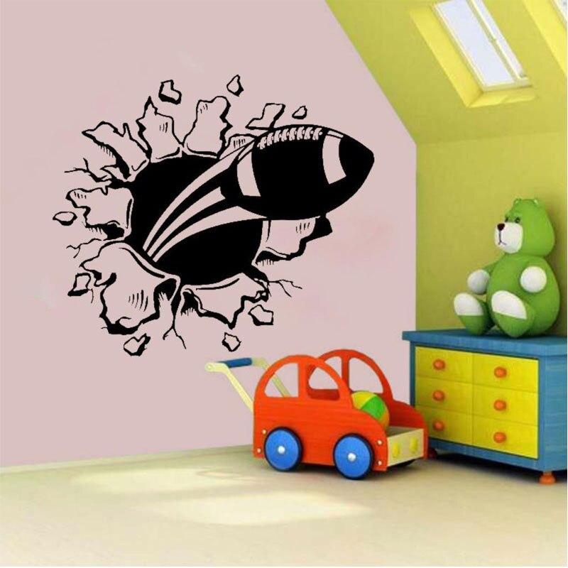 Футбол взрыв виниловая наклейка на стену стикер дети спальня украшения Спортивная команда Z124