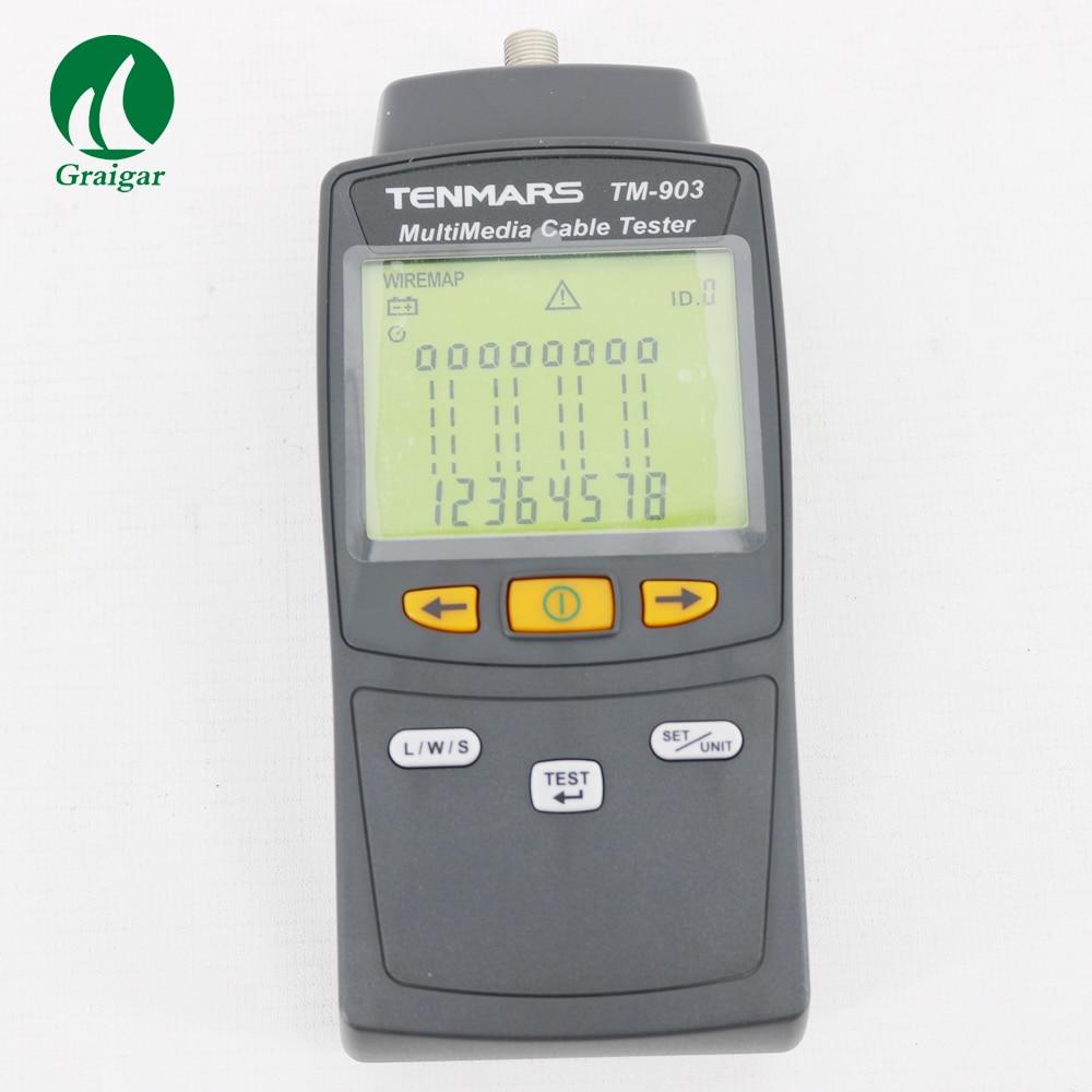 Tenmars TM-903 tester de cable LAN Multimedia de alta calidad tester de cable de red