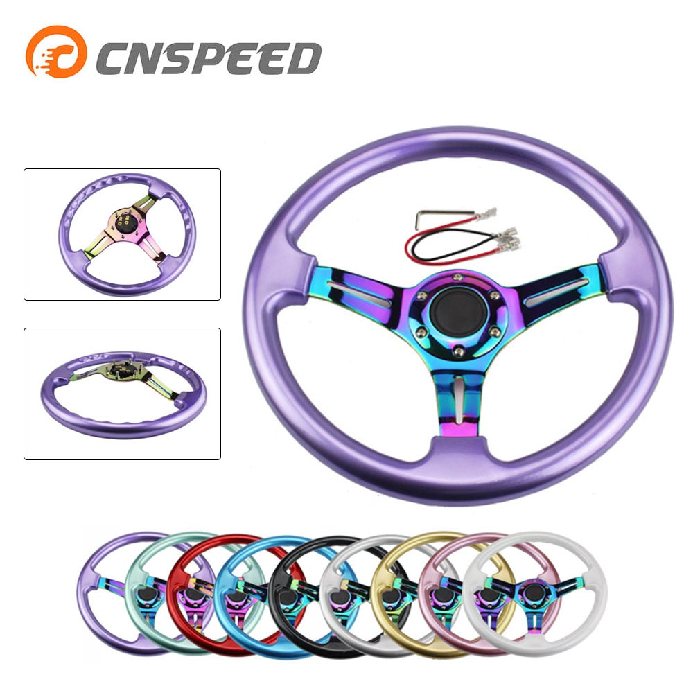 CNSPEED Neo Chrome New 350mm 14inch Steering Wheel ABS Steering Wheel YC100437