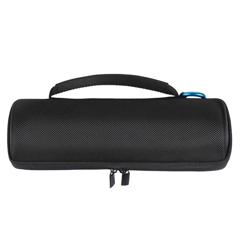 Bolsa protectora de almacenamiento LUOEM, fuerte bolsa de transporte de viaje, bolsa de almacenamiento de doble compartimento para JBL FLIP4 Boombox