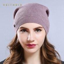 VEITHDIA, женские шапки, вязаная шерстяная шапка, Осень-зима, повседневные, высокое качество, брендовые, Новые шапки, хит продаж, шапка, женские шапки