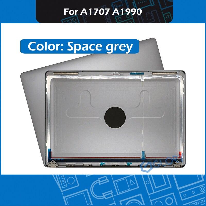 رمادي A1707 A1990 LCD لوحة الغطاء الخلفي الغطاء الخلفي لماك بوك برو الشبكية 15