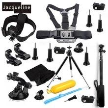 Jacqueline für Set Kit Zubehör für Sony Actioncam HDR AS200V AS30V AS100V AS20 AZ1 mini FDR-X1000V/W 4 karat für Yi action cam
