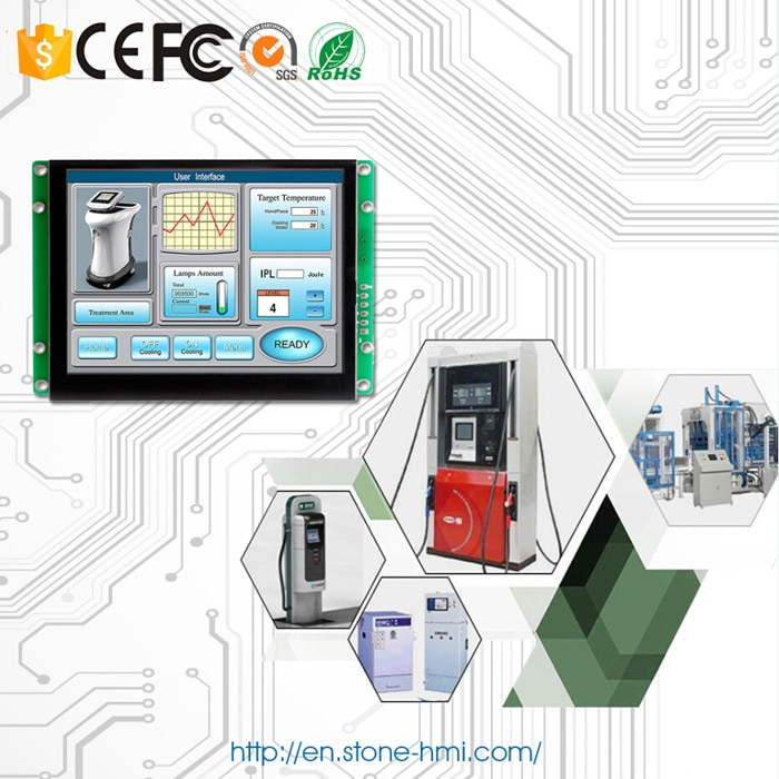 Embedded Programmable LCD Display 10.1 inch with Controller Board + Software for Industrial Control