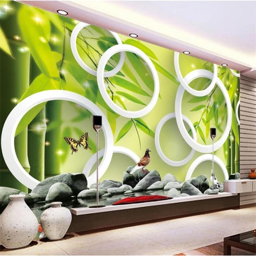 Beibehang floresta de bambu Personalizado papel de parede 3d grande mural sala de estar sala de estar quarto fundo da parede papers home decor 5d 8d