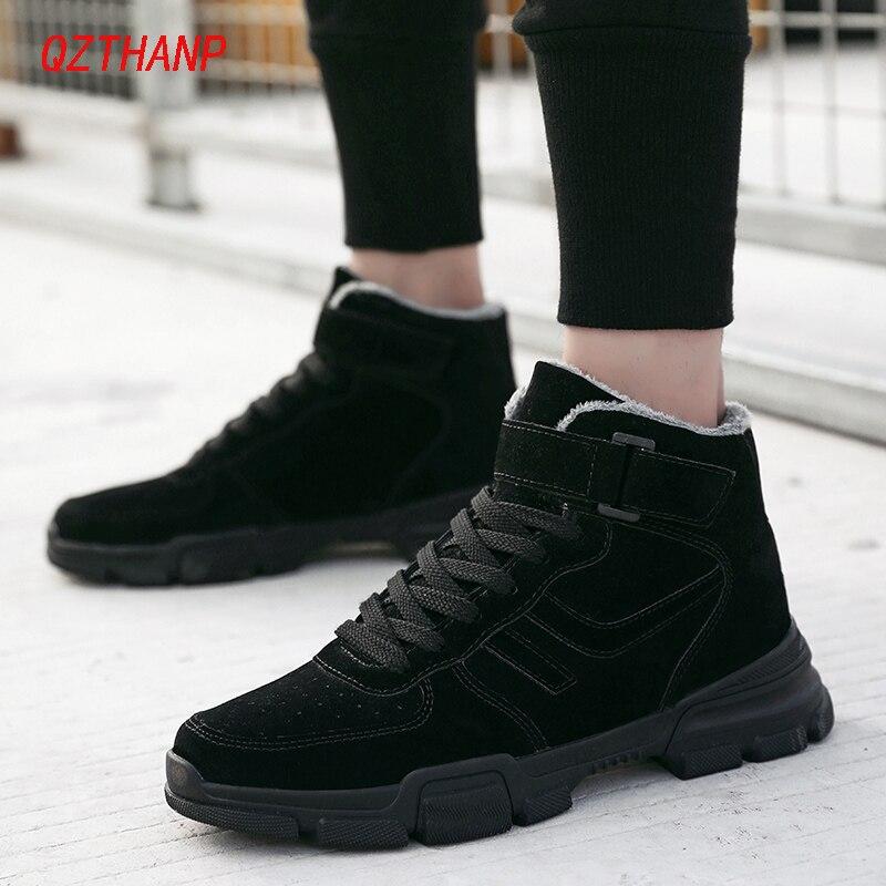 Botas informales Hombre otoño/invierno Bot Tenis Masculino Adulto deportivas altas negro Zapatos De Hombre Zapatos De felpa Chaussure Homme