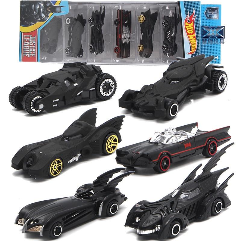 Набор детских игрушечных машин, модель 6 поколения, набор из сплава с изображением Бэтмена