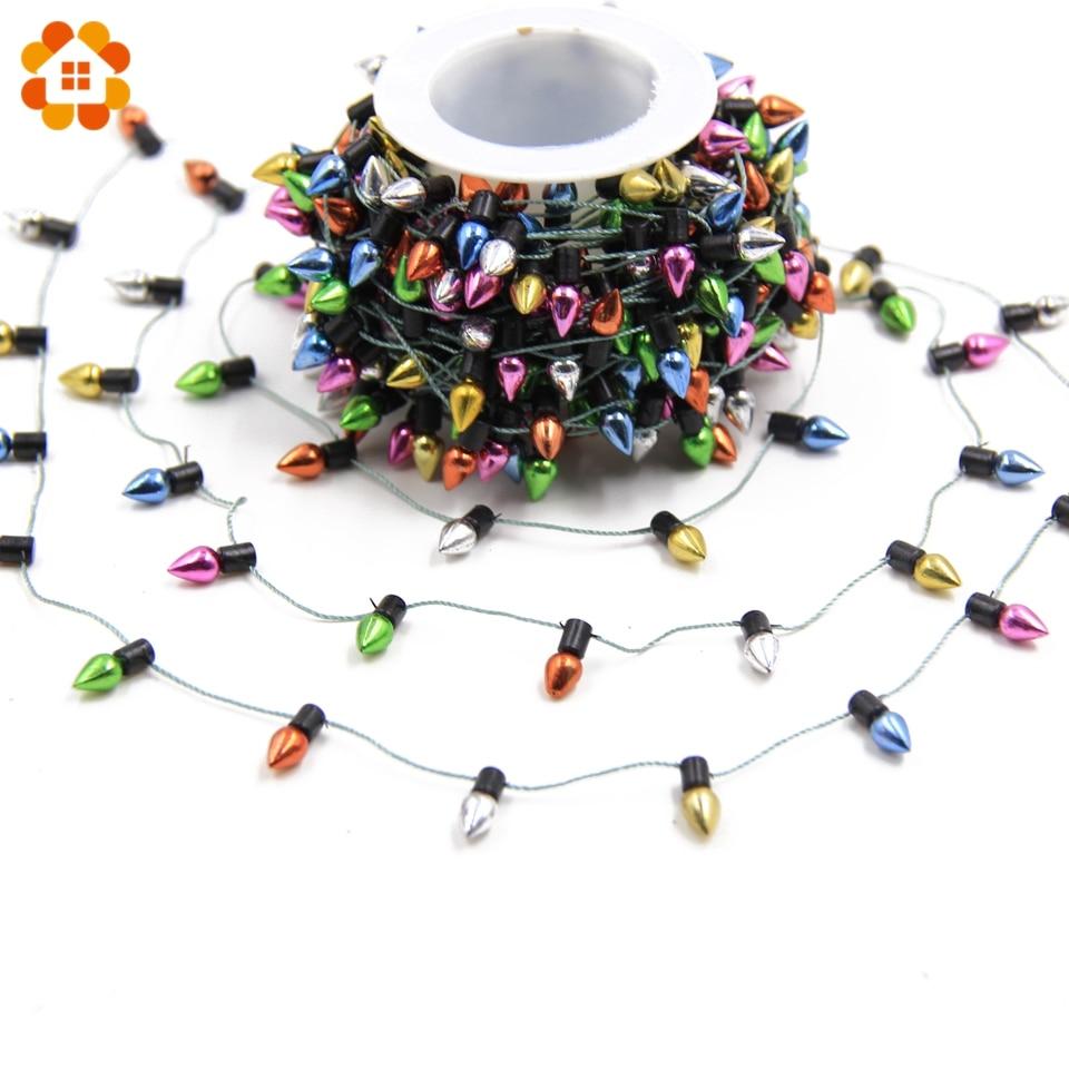 3m/5m guirlanda de natal diy lâmpadas guirlanda enfeites de natal decoração para casa enfeites de árvore de natal decorações de festa de natal