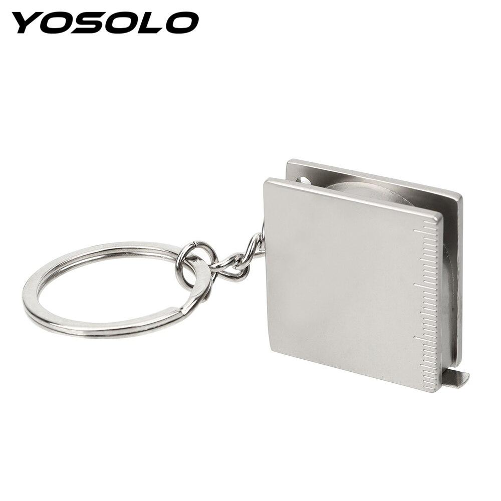 Выдвижная линейка для автомобильных ключей, измерительные инструменты, линейка, измерительные инструменты, кольцо для ключей, портативная ...