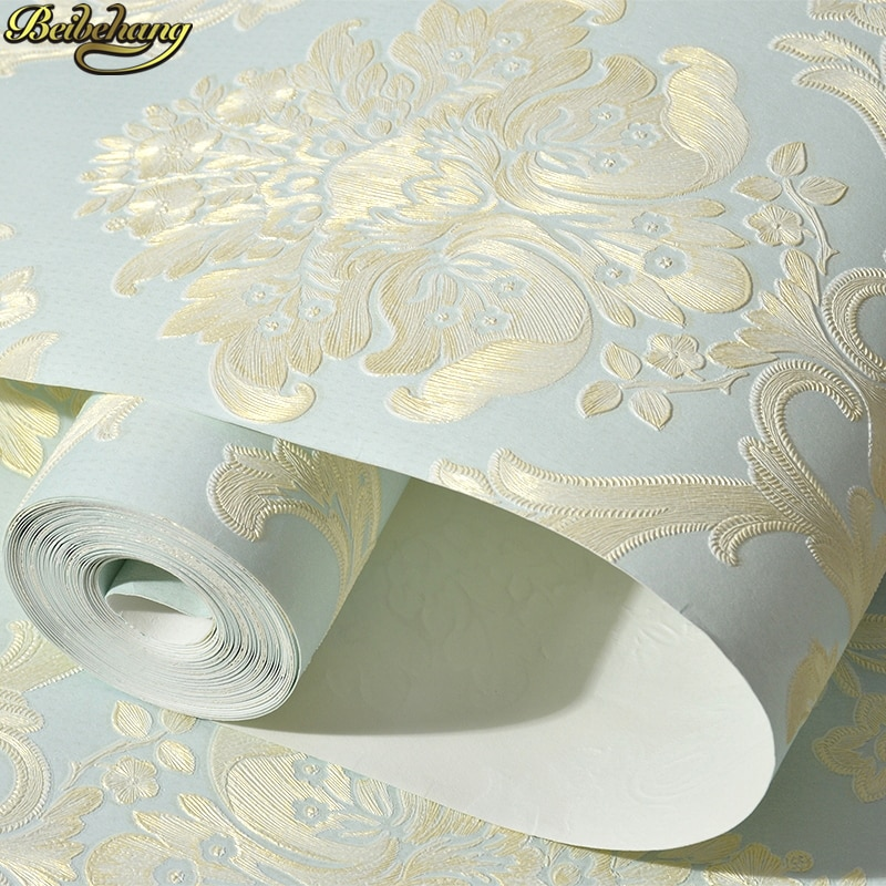 beibehang pastoral flowers wallpaper for walls 3d wall paper for wall 3 d classic embossed tv room bedroom wall paper home decor beibehang 53X300cm European embossed Damascus self adhesive wallpaper for walls 3D wall paper living room decoration bedroom