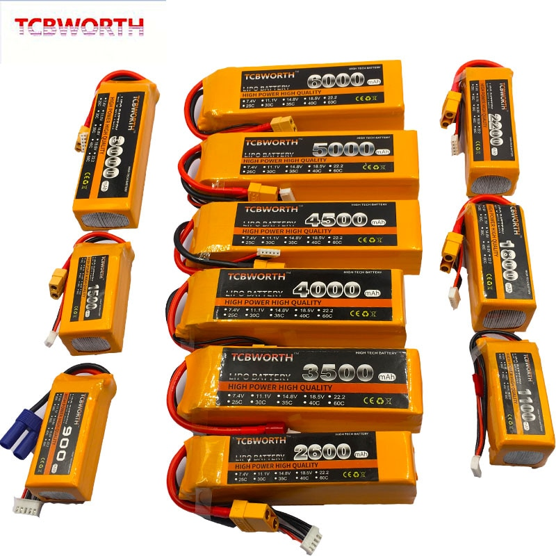 5S rc brinquedos lipo bateria 5S 18.5 v 1100 mah 1300 mah 1500 mah 1800 mah 2200 mah 2600 mah 25c 35c 60c para rc avião zangão barco carro lipo