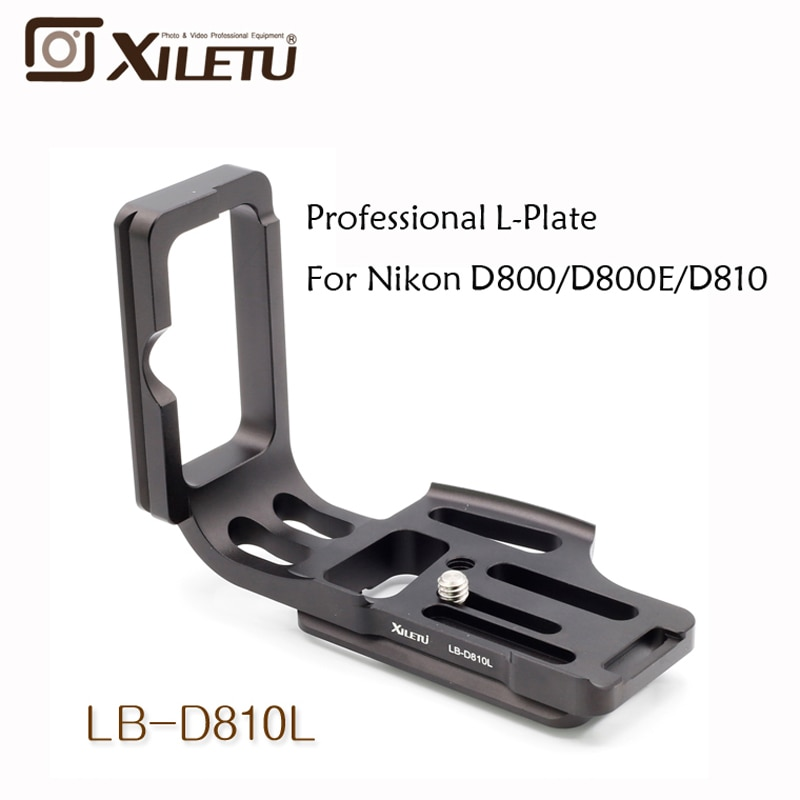 Cabezal L de placa de liberación rápida profesional Xiletu LB-D810L para Nikon D800 D810 Arca Standard