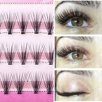 60pcs professional makeup individual cluster eye lashes grafting fake false eyelashes soft eyelash extension makeup