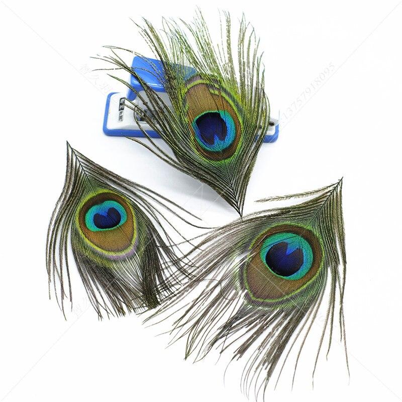 Natural 10 pçs 8-12cm aparado pavão penas olhos para artesanato dreamcatcher brinco vaso decoração plumas colar acessórios