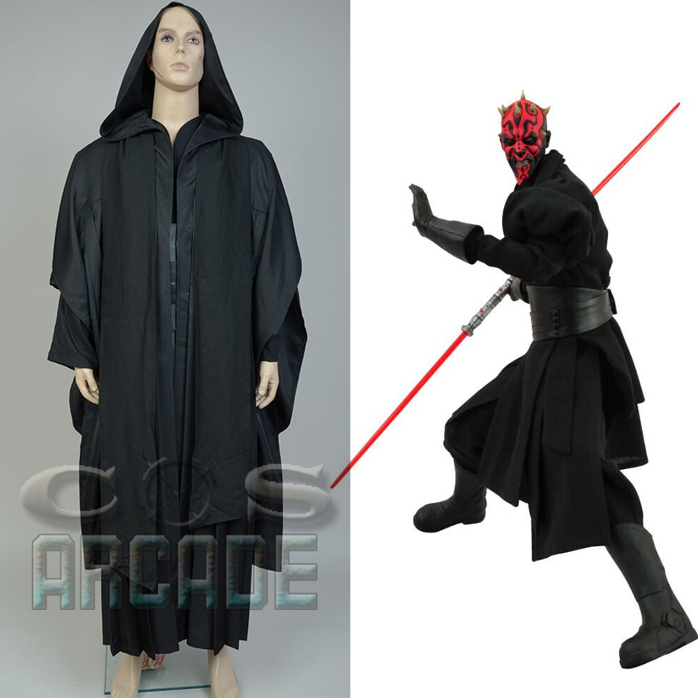 Cosplay sith darth darth maul conjunto completo uniforme halloween cosplay traje túnica terno