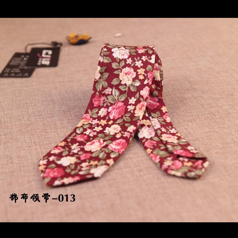 new Korean fashion casual designer high quality mens paisley floral cotton slim narrow neck ties 6cm  5pcs/lot