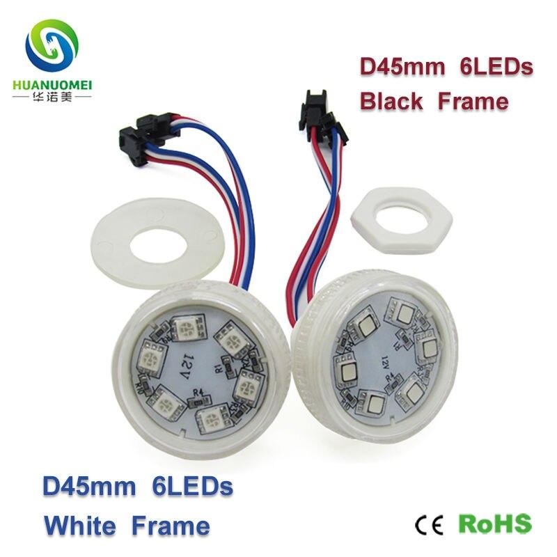 A todo color led pixel luz 45mm 6 LEDs ucs1903 RGB Digital SMD 5050 bombilla módulo direccionable LED módulo atracciones anuncio