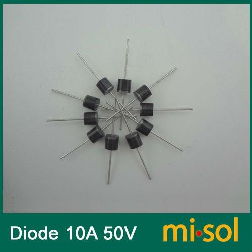 500 pcs lote 10a 50v schottky diodo retificador da barreira de schottky para o painel solar diy