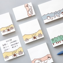 MIRUI Cartoon stickers affair stickers leuke hond en kat office meno pad stickers geplaatst n keer notities