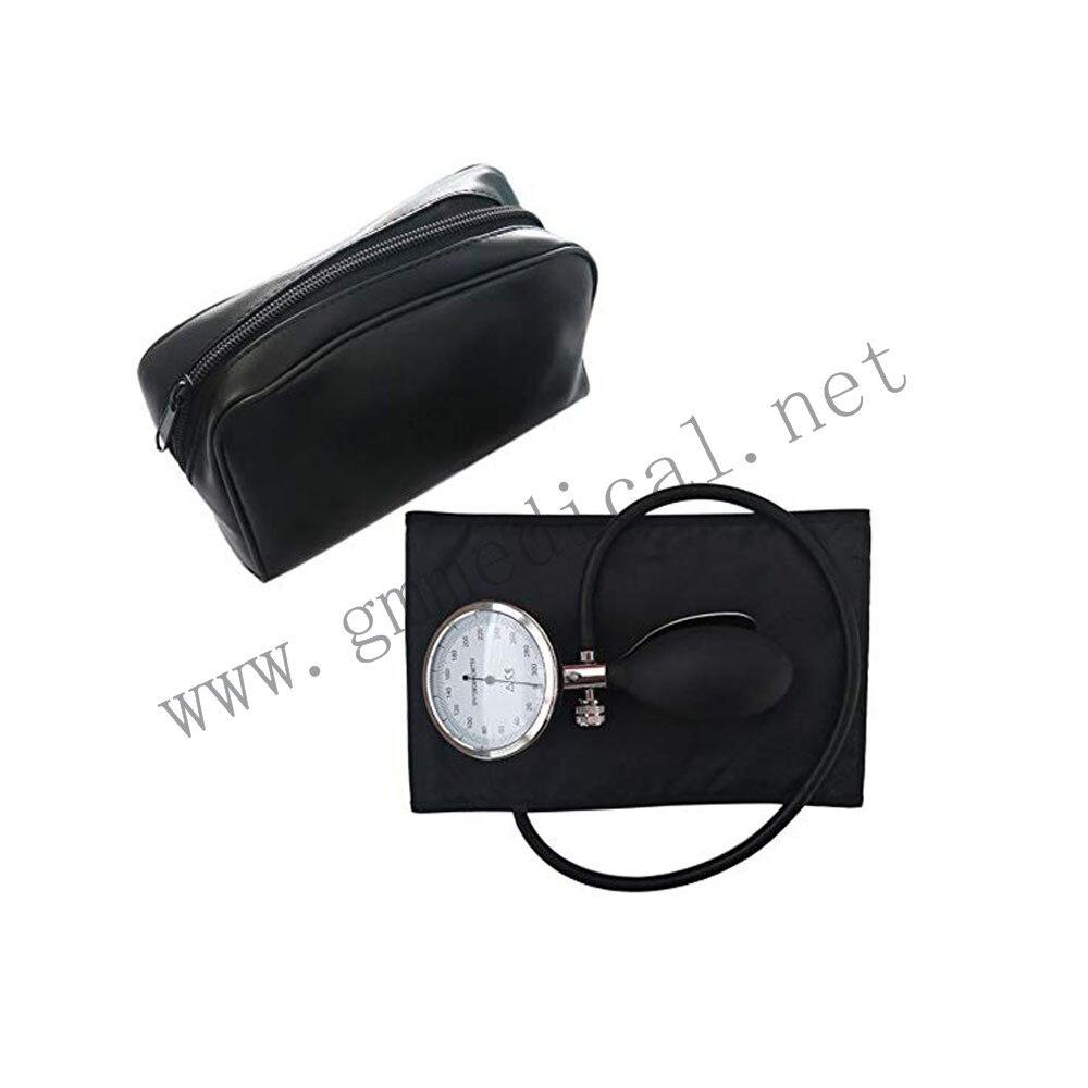 Esfigmomanómetro aneroide manguito de presión arterial Manual, manguito de tubo único con manómetro y bombilla de inflación (tamaño adulto)