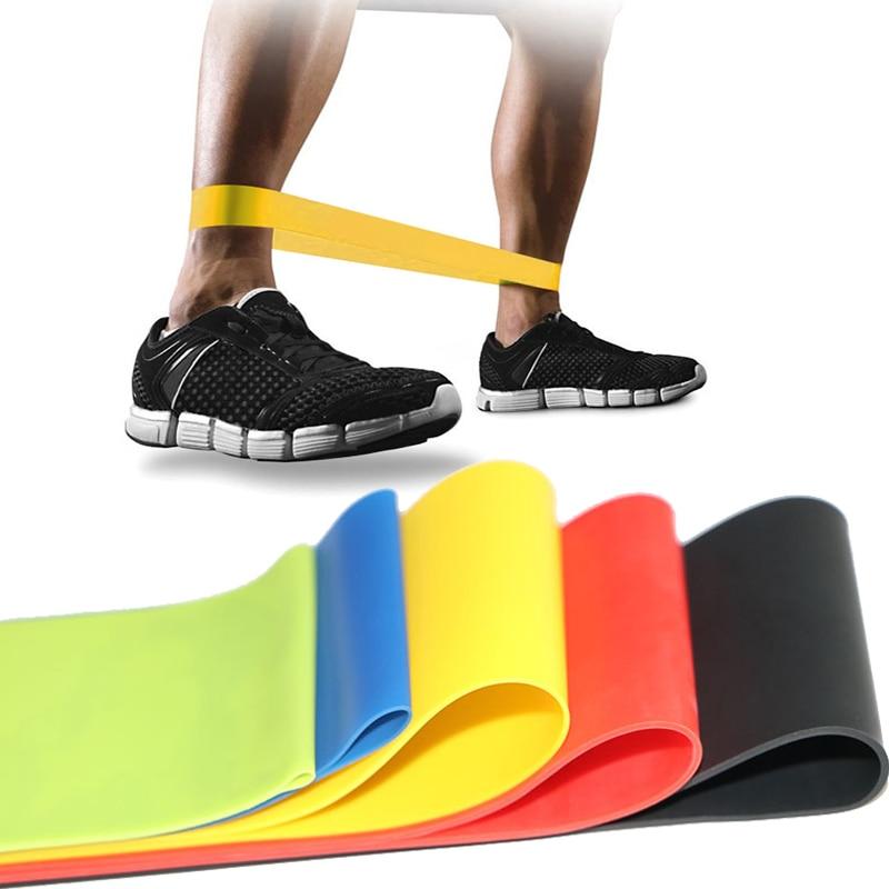 5 Colors Yoga Resistance Bands Health Elastic Sport Body Latex Belt Pull Strap Force Thigh Strength Sport Training Elastic Bands