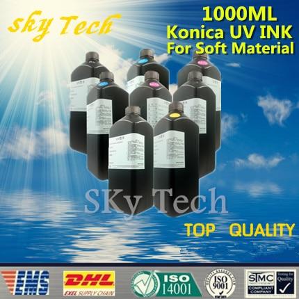 Tinta UV LED 1000 ML * 8, tinta UV para impresora UV Konica Para cuero de papel y materiales suaves, etc.