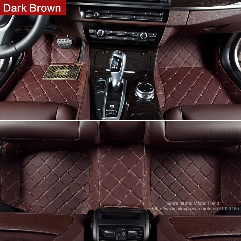 Alfombrillas de suelo de coche personalizadas hechas para Hyundai Veloster Tucson ix35 Santa Fe Elantra ix25 funda cubierta completa de coche- estilo camisas