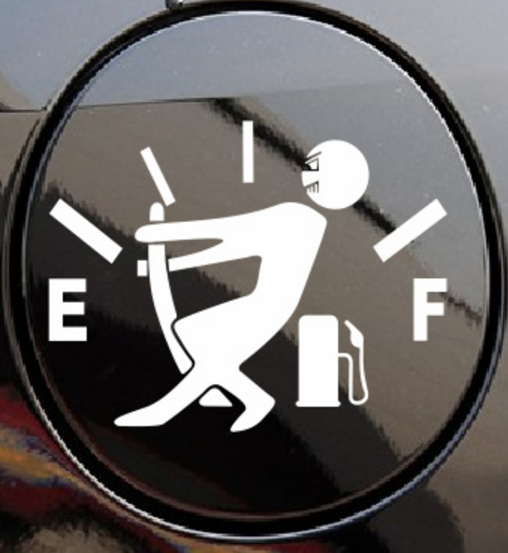 Kraftstoff gauge aufkleber lustige JDM vinyl auto aufkleber für Chevrolet Cruze TRAX Aveo Lova Sail EPICA Captiva Malibu Volt Camaro kobalt