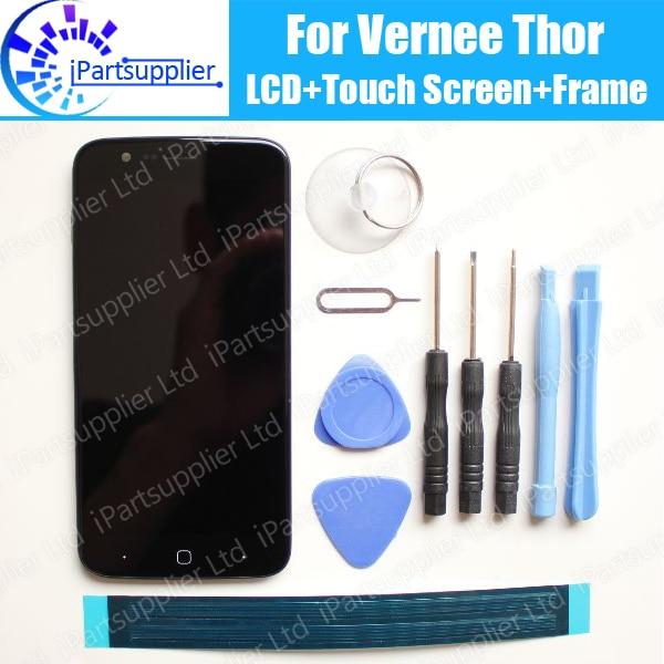 Vernee thor display lcd + digitador da tela de toque + quadro 100% original novo lcd + digitador toque para thor, só trabalhar em novo sistema
