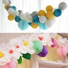Décorations en boules de papier et nid dabeille   5 pièces 15cm(6